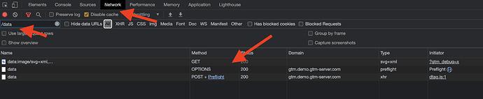 Chrome Data request debugger