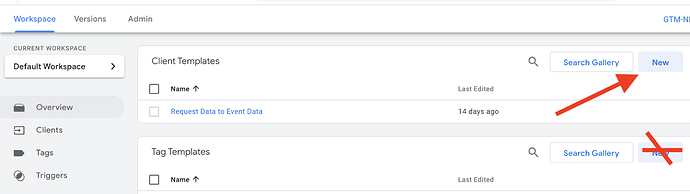 GTM Server Side Client template