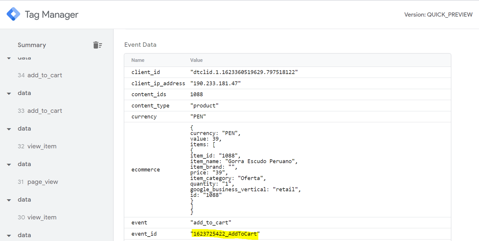 event_id-event data